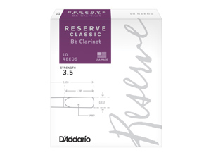D'Addario Woodwinds Reserve Classic Bb Clarinet Reeds 10 Pack